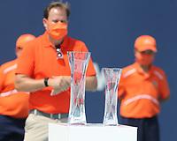 MIAMI GARDENS, FLORIDA - APRIL 04: (NO SALES TO NEW YORK POST) Hubert Hurkacz of Poland defeats Jannik Sinner of Italy during the men's singles final at the Miami Open at Hard Rock Stadium. on April 04, 2021 in Miami Gardens, Florida.<br /> <br /> <br /> People:  Hubert Hurkacz Credit: hoo-me / MediaPunch