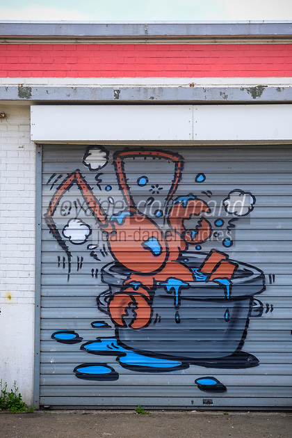 Europe/France/Normandie/76/Seine Maritime/ Le Havre :   Street Art au Port de Pêche: Crustacé // Europe / France / Normandy / 76 / Seine Maritime / Le Havre: Street Art at the Fishing Port: Crustacean