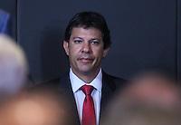 ATENCAO EDITOR: FOTO EMBARGADA PARA VEÍCULOS INTERNACIONAIS. – SAO PAULO, SP, 14 NOVEMBRO 2012 - OLIMPIADAS DO CONHECIMENTO - Prefeito Eleito Fernando Haddad durante visita a VII Olimpiadas do Conhecimento no Centro de Convencoes Anhembi na regiao norte da capital paulista, neta quarta-feira, 14. (FOTO: VANESSA CARVALHO / BRAZIL PHOTO PRESS).