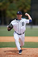 Detroit Tigers pitcher Jared Tobey (50) during an Instructional League instrasquad game on September 20, 2019 at Tigertown in Lakeland, Florida.  (Mike Janes/Four Seam Images)