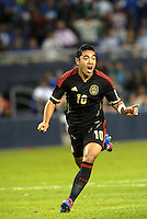 Marco Fabian (10) Mexico celebrates his goal... Mexico defeated Canada 3-1 in Olympic Qualifying semi final at LIVESTRONG Sporting Park, Kansas City, Kansas.