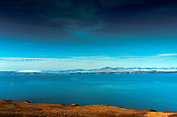 The Sound of Raasay, Raasay and Skye from the North Coast 500 near Applecross, Applecross Peninsula, Northwest Highlands