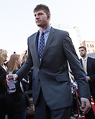 Jon Gillies (PC - 32) - The teams walked the red carpet through the Fan Fest outside TD Garden prior to the Frozen Four final on Saturday, April 11, 2015, in Boston, Massachusetts.