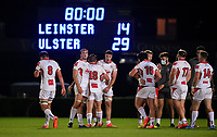 25 September 2020; Ulster A players following their victory in the A Interprovincial Friendly match between Leinster A and Ulster A at the RDS Arena in Dublin. Photo by Ramsey Cardy/Sportsfile/Dicksndigital