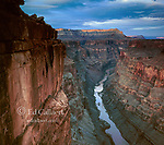 Dusk, Toroweap Overlook, Colorado River, Grand Canyon National Park, Arizona