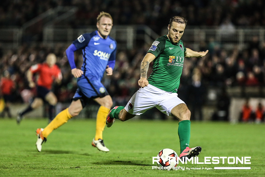2017 SSE Airtricity League Premier Division,<br /> Cork City vs Bray Wanderers,<br /> Friday 27th October 2017,<br /> Turners Cross, Cork.<br /> Karl Sheppard of Cork.<br /> Photo By: Michael P Ryan