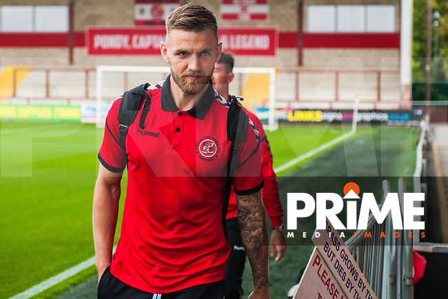Fleetwood Towns Ashley Eastham ariving during the Sky Bet League 1 match between Fleetwood Town and Bradford City at Highbury Stadium, Fleetwood, England on 1 September 2018. Photo by Stephen Buckley / PRiME Media Images.