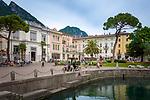 Italy, Trentino, Lake Garda, Riva del Garda: Piazza Giuseppe Garibaldi   Italien, Trentino, Gardasee, Riva del Garda: Piazza Giuseppe Garibaldi