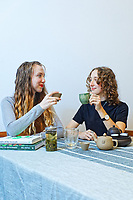 Pictured: Amy Aed and Emily Knipe in Swansea, Wales, UK. Tuesday 18 May 2021<br /> Re: Two Aberystwyth University students, Amy Aed and Emily Knipe, have launched EISA Tea co. a premium tea business with a focus on social and environmental responsibility.