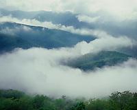 Clearing storm clouds along Skyline Drive; Shenandoah National Park, VA