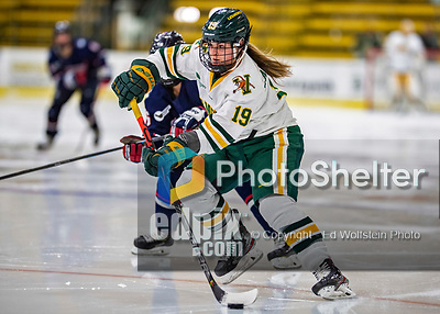 9 February 2020: University of Vermont Catamount Forward Val Caldwell, a Junior from Glenview, IL, in second period action against the University of Connecticut Huskies at Gutterson Fieldhouse in Burlington, Vermont. The Lady Cats defeated the Huskies 6-2 in the second game of their weekend Hockey East series. Mandatory Credit: Ed Wolfstein Photo *** RAW (NEF) Image File Available ***