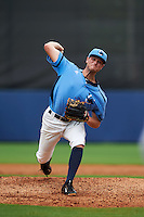 Charlotte Stone Crabs pitcher Buddy Borden (22) delivers a pitch during a game against the Dunedin Blue Jays on July 26, 2015 at Charlotte Sports Park in Port Charlotte, Florida.  Charlotte defeated Dunedin 2-1 in ten innings.  (Mike Janes/Four Seam Images)