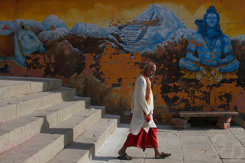 At the Ghats of the Ganges River, Varanasi, India