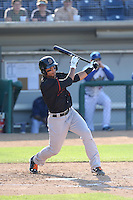 Tim Lopes (5) of the Bakersfield Blaze bats during a game against the Rancho Cucamonga Quakes at LoanMart Field on June 1, 2015 in Rancho Cucamonga, California. Rancho Cucamonga defeated Bakersfield, 5-2. (Larry Goren/Four Seam Images)