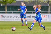 Emma Van Britsom (6) of AA Gent pictured during a female soccer game between AA Gent Ladies and Oud Heverlee Leuven on the fourth matchday of play off 1 in the 2020 - 2021 season of Belgian Scooore Womens Super League , saturday 1 st of May 2021  in Oostakker , Belgium . PHOTO SPORTPIX.BE | SPP | STIJN AUDOOREN