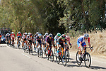 The 18 man breakaway during Stage 14 of La Vuelta d'Espana 2021, running 165.7km from Don Benito to Pico Villuercas, Spain. 28th August 2021.     <br /> Picture: Luis Angel Gomez/Photogomezsport   Cyclefile<br /> <br /> All photos usage must carry mandatory copyright credit (© Cyclefile   Luis Angel Gomez/Photogomezsport)