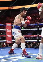 LAS VEGAS, NV - AUG 21: Manny Pacquiao on the Fox Sports PBC pay-per-view fight night at the T-Mobile Arena on August 21, 2021 in Las Vegas, Nevada (Photo by Scott Kirkland/Fox Sports/PictureGroup)
