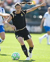 Brandi Chastain. FC Gold Pride defeated the Boston Breakers, 2-1, in their home opener on April 5, 2009 at Buck Shaw Stadium in Santa Clara, CA.