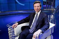 Andrea Orlando Italian Minister of Justice<br /> Roma 26/04/2017. Trasmissione Rai Porta a Porta.<br /> Talk show 'Porta a Porta'<br /> Foto Samantha Zucchi Insidefoto