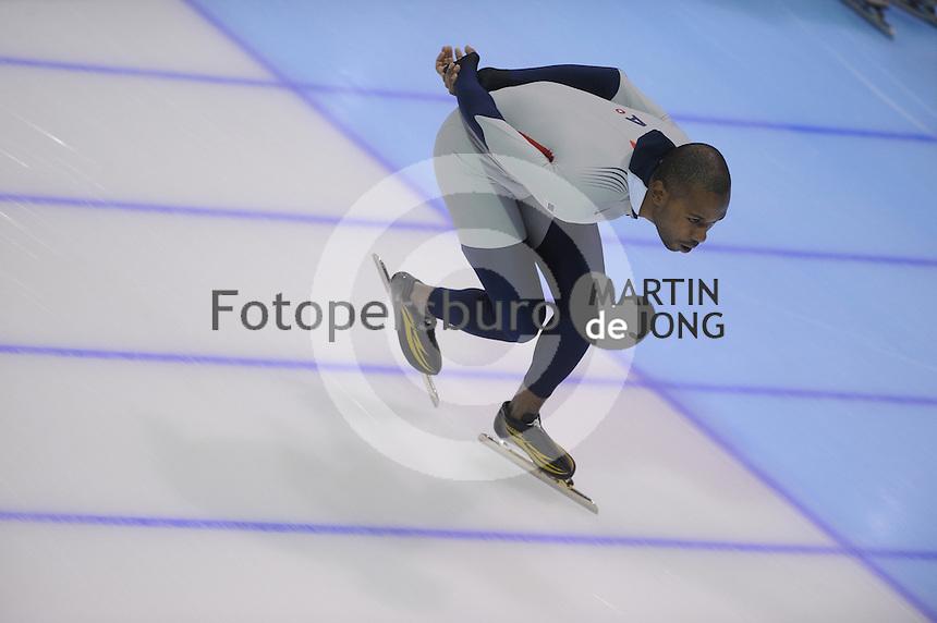 SCHAATSEN: HEERENVEEN: IJsstadion Thialf, 14-11-2012, World Cup Training, Seizoen 2012-2013, Shani Davis (USA), ©foto Martin de Jong