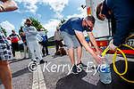 Tony O'Shea, Oakpark, Tralee after filling up water from a tanker at Saint Brendan's church, Tralee on Wednesday.
