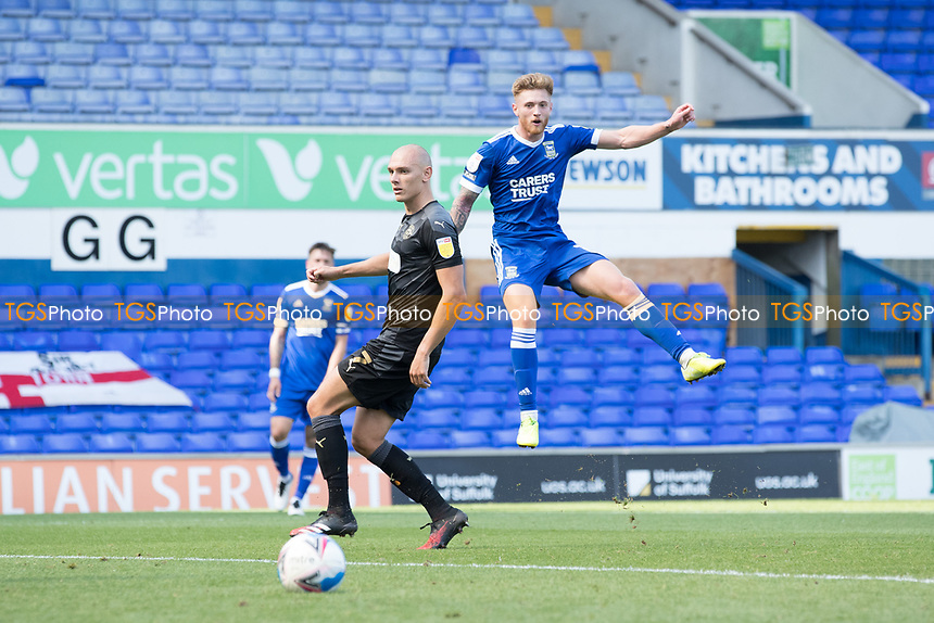 Teddy Bishop of Ipswich Town drags his shot wide during Ipswich Town vs Wigan Athletic, Sky Bet EFL League 1 Football at Portman Road on 13th September 2020