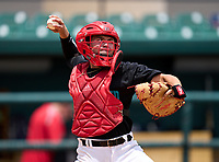 Westland Hialeah Wildcats catcher Ray Sobrino (21) during practice before the 42nd Annual FACA All-Star Baseball Classic on June 5, 2021 at Joker Marchant Stadium in Lakeland, Florida.  (Mike Janes/Four Seam Images)