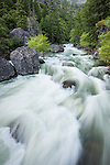 Spring run off from the Sierra Nevada near Salt Springs Reservoir on the North Fork of the Mokelumne River.