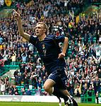 Pic Kenny Smith 02/09/2006.Scotland V Faroe Isles, European Championships 2008 qualifier Celtic park, Glasgow..Fletcher celebrates the opening goal