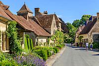 France, Cher (18), Apremont-sur-Allier, labellisé Plus Beaux Villages de France, la rue principale