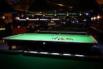 Snooker, English billiards tables at billiards venue. Markham, Ontario, Canada.