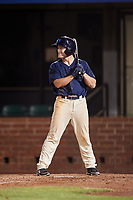 Mobile BayBears center fielder Brennon Lund (8) at bat during a game against the Chattanooga Lookouts on May 5, 2018 at Hank Aaron Stadium in Mobile, Alabama.  Chattanooga defeated Mobile 11-5.  (Mike Janes/Four Seam Images)
