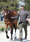 April 23, 2014: Madison Park and Kyle Carter during the first horse inspection at the Rolex Three Day Event in Lexington, KY at the Kentucky Horse Park.  Candice Chavez/ESW/CSM