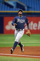 Tampa Bay Rays Juan Carlos Arias (91) during an instructional league game against the Boston Red Sox on September 24, 2015 at Tropicana Field in St Petersburg, Florida.  (Mike Janes/Four Seam Images)