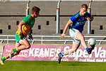 Stephen O'Brien, Kerry in action against Peader Mogan, Donegal during the Allianz Football League Division 1 Round 7 match between Kerry and Donegal at Austin Stack Park in Tralee on Saturday.