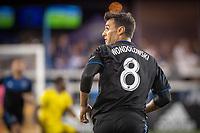 San Jose, CA - Saturday August 03, 2019: Chris Wondolowski #8 in a Major League Soccer (MLS) match between the San Jose Earthquakes and the Columbus Crew at Avaya Stadium.