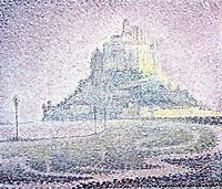 Mont Saint-Michel, Fog and Sun, 1897<br /> Paul Signac (1863–1935) <br /> oil on canvas