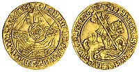 BNPS.co.uk (01202 558833)<br /> Pic: Spink/BNPS<br /> <br /> Pictured: Henry VIII, with Katharine of Aragon, Struck in November 1526-1529 sold for £120,000.<br />  <br /> The family of a late steeplejack are celebrating today after his incredible collection of rare coins sold for a whopping £2.8m.<br /> <br /> The 52 coins from the Tudor and Stuart periods were amassed by prolific collector Horace Hird over 50 years.<br /> <br /> He died in 1973 and it had been presumed he had sold all his coins while he was still alive. But a descendant found dozens of them still wrapped with their paperwork dating back to the 1960s.