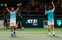 Rotterdam, The Netherlands, 17 Februari 2019, ABNAMRO World Tennis Tournament, Ahoy, Semis, Doubles, Rajeev Ram (USA) / Joe Salisbury (GBR),<br /> Photo: www.tennisimages.com/Henk Koster