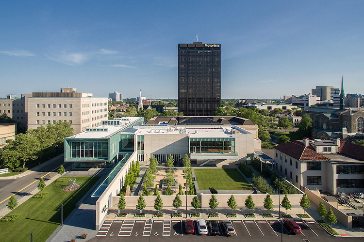 Columbus Museum of Art Margaret M Walter Wing Aerial Photography | DesignGroup