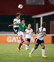 Abby Wambach, Liliana Mercado. The USWNT defeated Mexico, 7-0, during an international friendly at RFK Stadium in Washington, DC.  The USWNT defeated Mexico, 7-0.