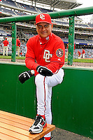 13 April 2008: Washington Nationals' first base coach Jerry Morales poses in the dugout prior to a game against the Atlanta Braves at Nationals Park, in Washington, DC. The Nationals ended their 9-game losing streak by defeating the Braves 5-4 in the last game of their 3-game series...Mandatory Photo Credit: Ed Wolfstein Photo