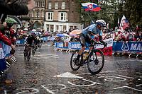 Yves Lampaert (BEL/Deceuninck-Quick Step)<br /> <br /> Elite Men Road Race from Leeds to Harrogate (shortened to 262km)<br /> 2019 UCI Road World Championships Yorkshire (GBR)<br /> <br /> ©kramon
