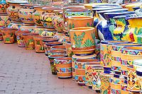 colorful pot display. Tubac. Arizona