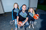 Ava, Fergal and Fiadh O'Sullivan taking part in the Tralee Warriors Hoop from Home fundraiser.