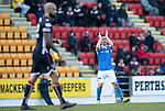 St Johnstone v Ross County…24.02.18…  McDiarmid Park    SPFL<br />Chris Millar applauds th fans as he is subbed<br />Picture by Graeme Hart. <br />Copyright Perthshire Picture Agency<br />Tel: 01738 623350  Mobile: 07990 594431