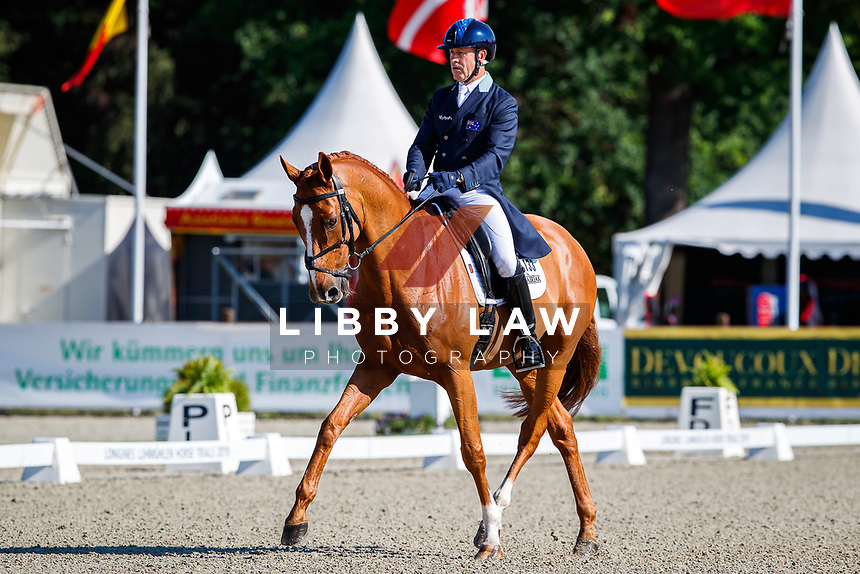 AUS-Andrew Hoy rides Vassily de Lassos during the Dressage for the Meßmer Trophy mit Deutscher Meisterschaft CCI4*-S. Interim-17th. The Longines Luhmuehlen International Horse Trials. Salzhausen, Germany. Friday 14 June. Copyright Photo: Libby Law Photography