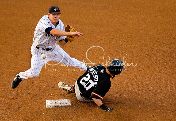 Action during a game in the Charlotte Knights 2008 season.