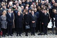Muriel Penicaud - Bruno Lemaire - Francois Hollande - Nicolas Sarkozy - Carla Bruni-Sarkozy - Hommage National ‡ JEAN D'ORMESSON - 08/12/2017 - Hotel des Invalides - Paris - France