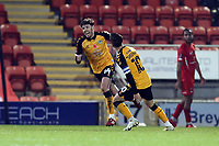 Newport's Jamie Devitt scores the winner and celebrates during Leyton Orient vs Newport County, Emirates FA Cup Football at The Breyer Group Stadium on 7th November 2020